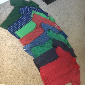 Men's golf polo lot 7 shirts! Size med large